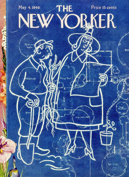 Person Painting - New Yorker May 4 1940 by Rea Irvin