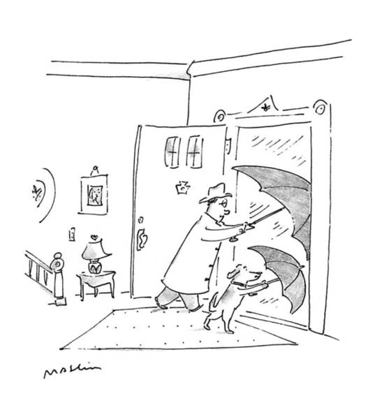 House Pet Drawing - New Yorker May 4th, 1992 by Michael Maslin
