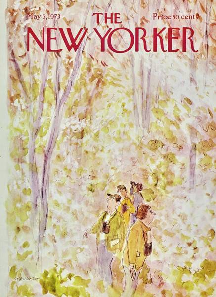 1970s Painting - New Yorker May 5th 1973 by James Stevenson