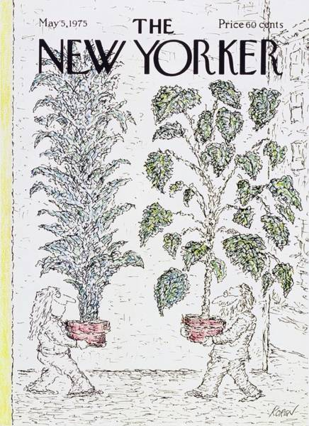 City Scene Painting - New Yorker May 5th 1975 by Edward Koren