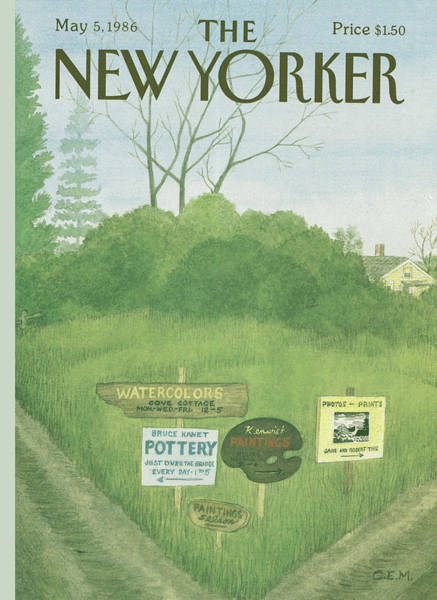 Hobbies Painting - New Yorker May 5th, 1986 by Charles E Martin