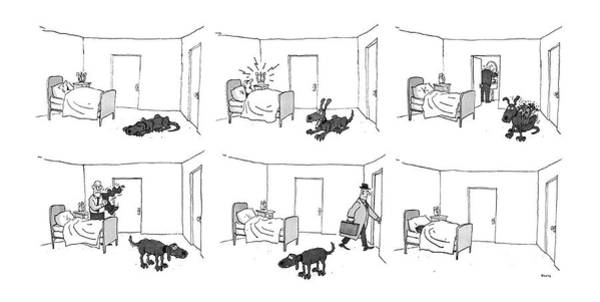 Jump Drawing - New Yorker May 5th, 1986 by George Booth