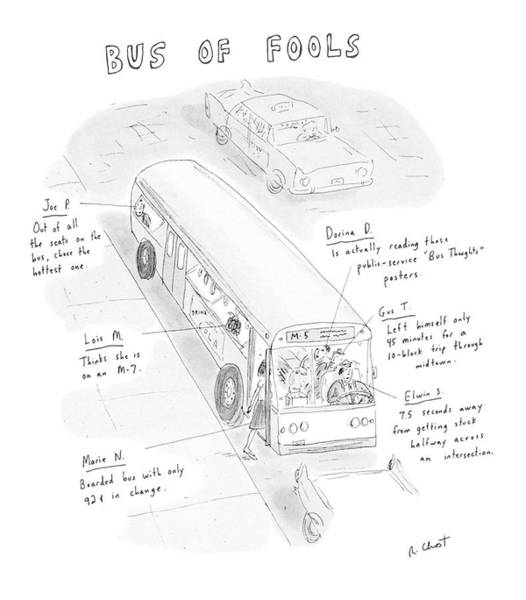 Gus Wall Art - Drawing - New Yorker May 5th, 1986 by Roz Chast
