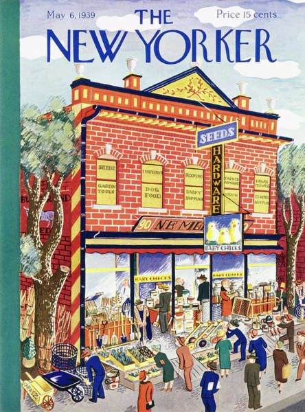 Exterior Painting - New Yorker May 6 1939 by Ilonka Karasz