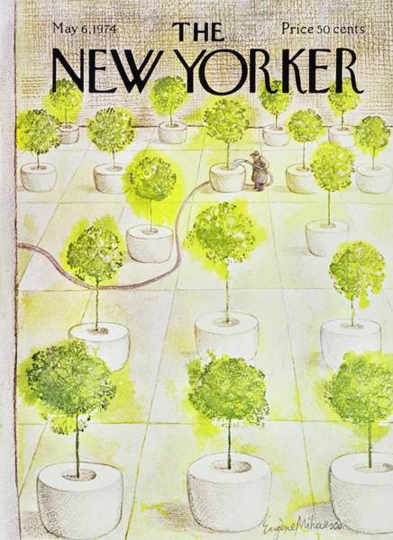 6 Painting - New Yorker May 6th 1974 by Eugene Mihaesco