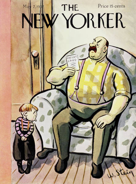 Humor Painting - New Yorker May 7 1932 by William Steig