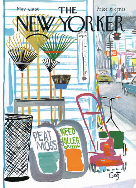 Suburban Painting - New Yorker May 7th, 1966 by Arthur Getz