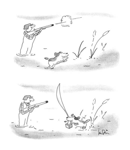 Pet Drawing - New Yorker May 7th, 1990 by Arnie Levin