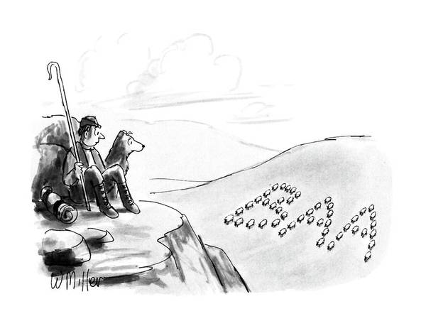 May 7th Drawing - New Yorker May 7th, 1990 by Warren Miller