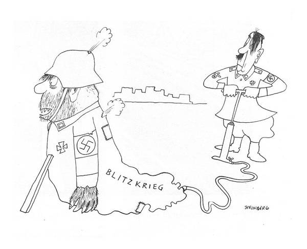 Hitler Drawing - New Yorker May 8th, 1943 by Saul Steinberg