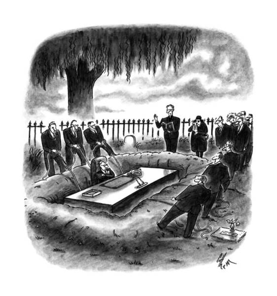 May 8th Drawing - New Yorker May 8th, 1995 by Frank Cotham