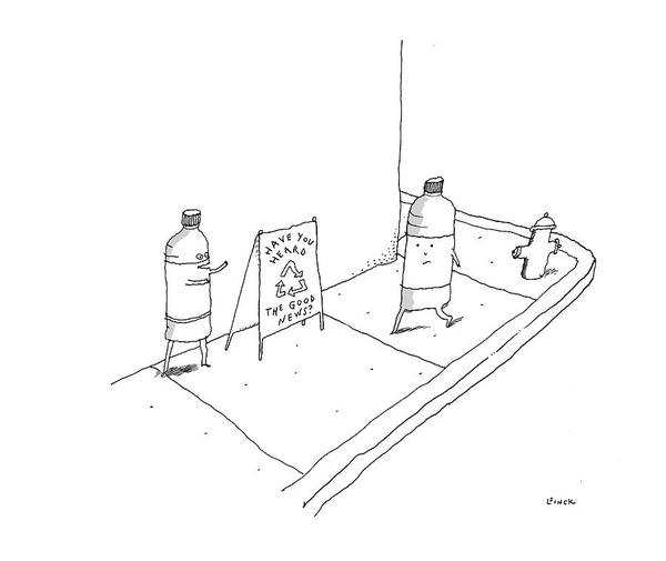 Recycle Drawing - New Yorker May 8th, 2017 by Liana Finck