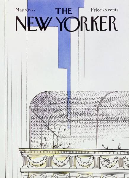 Roof Painting - New Yorker May 9th 1977 by Arthur Getz