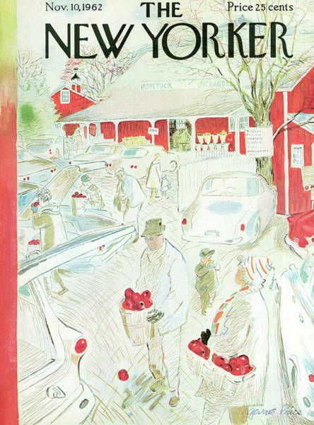 Farmer Painting - New Yorker November 10th, 1962 by Garrett Price