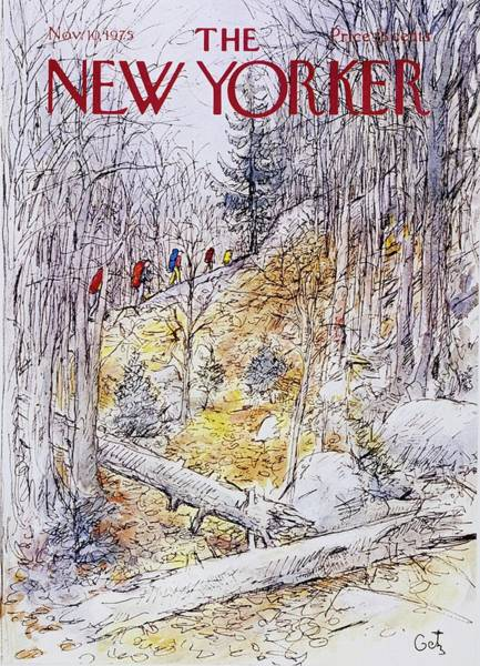 1970s Painting - New Yorker November 10th 1975 by Arthur Getz
