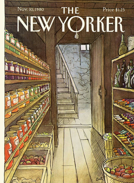 Architecture Painting - New Yorker November 10th, 1980 by Arthur Getz