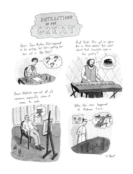 Writing Drawing - New Yorker November 10th, 1986 by Roz Chast
