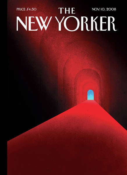 Light Painting - New Yorker November 10th, 2008 by Brian Stauffer