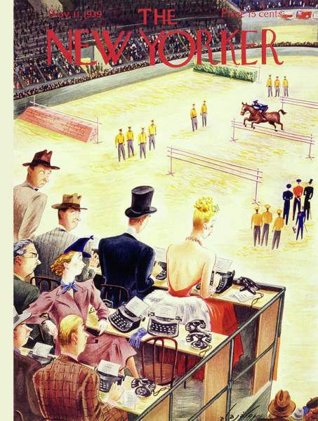 Magazine Cover Painting - New Yorker November 11 1939 by Constantin Alajalov