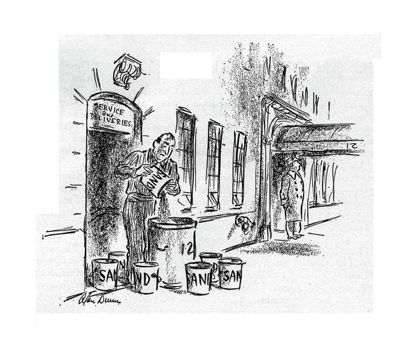 Support Drawing - New Yorker November 11th, 1944 by Alan Dunn