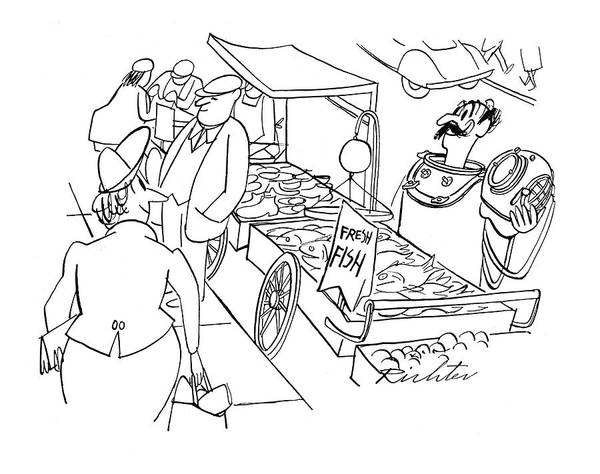 November 11th Drawing - New Yorker November 11th, 1944 by Mischa Richter