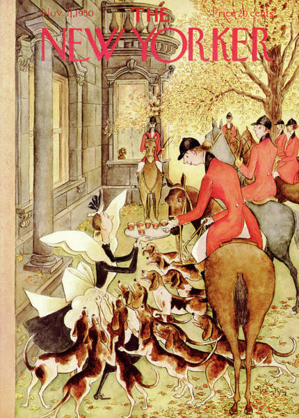 Horse Painting - New Yorker November 11th, 1950 by Mary Petty