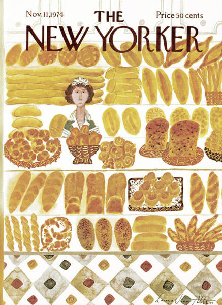 Oven Painting - New Yorker November 11th, 1974 by Laura Jean Allen