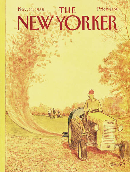 Fall Painting - New Yorker November 11th, 1985 by Charles Saxon