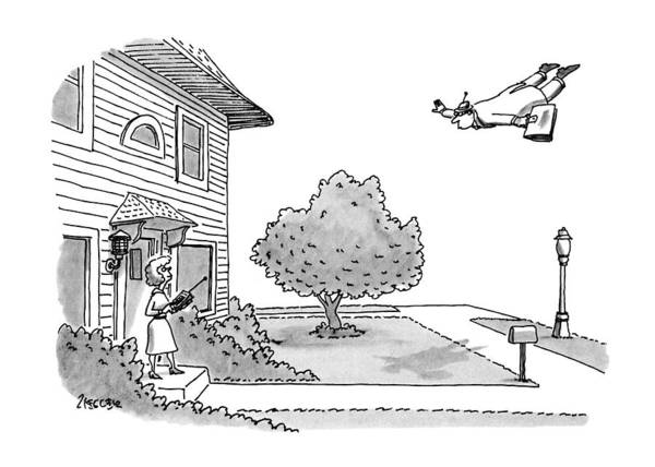 November 11th Drawing - New Yorker November 11th, 1991 by Jack Ziegler