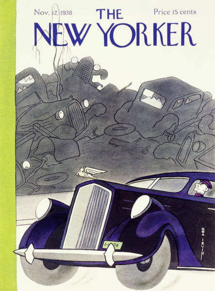 Person Painting - New Yorker November 12 1938 by Rea Irvin
