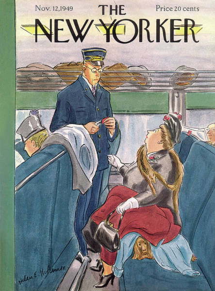 Pet Painting - New Yorker November 12th, 1949 by Helen E. Hokinson