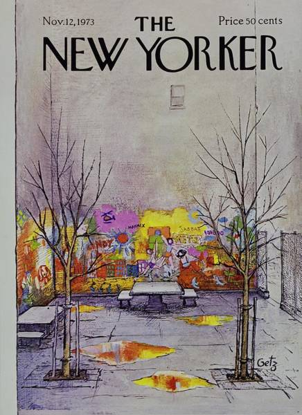 Picnic Painting - New Yorker November 12th 1973 by Arthur Getz