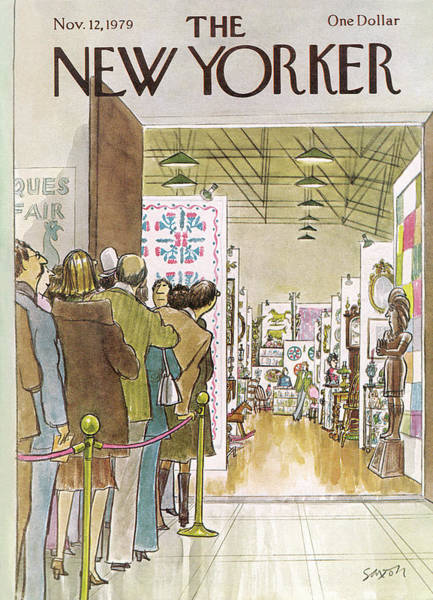 Pier Painting - New Yorker November 12th, 1979 by Charles Saxon