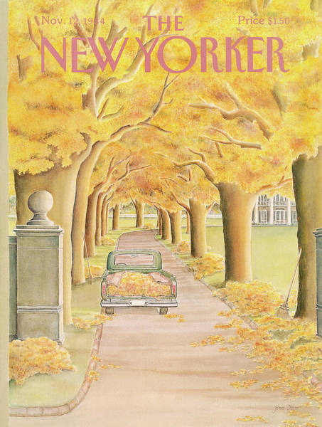 Fall Painting - New Yorker November 12th, 1984 by Jenni Oliver