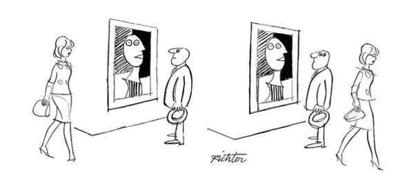 Same Drawing - New Yorker November 13th, 1965 by Mischa Richter