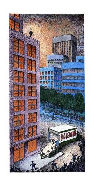 Jump Drawing - New Yorker November 13th, 1995 by John O'Brien