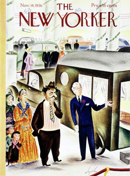 Humor Painting - New Yorker November 14 1936 by Constantin Alajalov