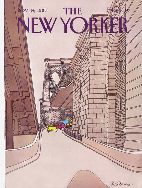 Travel Painting - New Yorker November 14th, 1983 by Roxie Munro