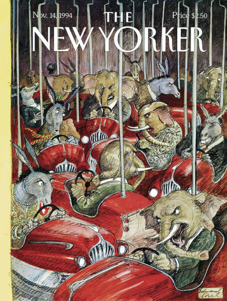 Election Painting - New Yorker November 14th, 1994 by Edward Sorel
