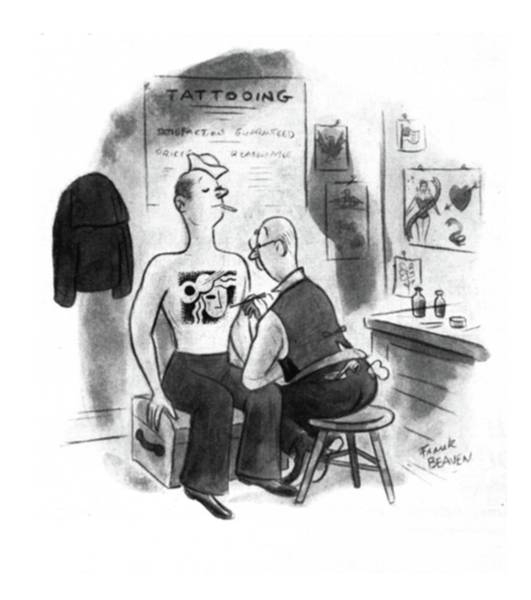 Tattoo Drawing - New Yorker November 15th, 1941 by Frank Beaven
