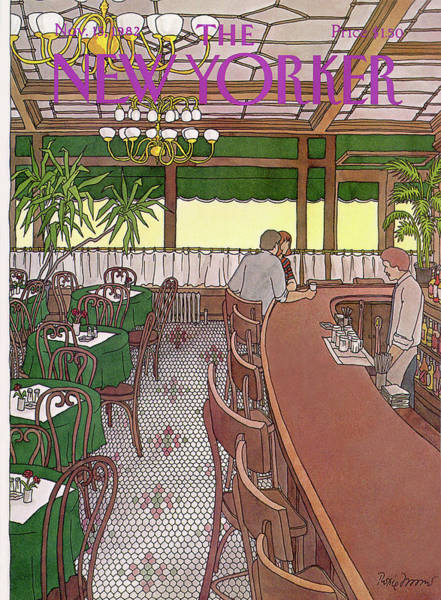 Restaurant Painting - New Yorker November 15th, 1982 by Roxie Munro