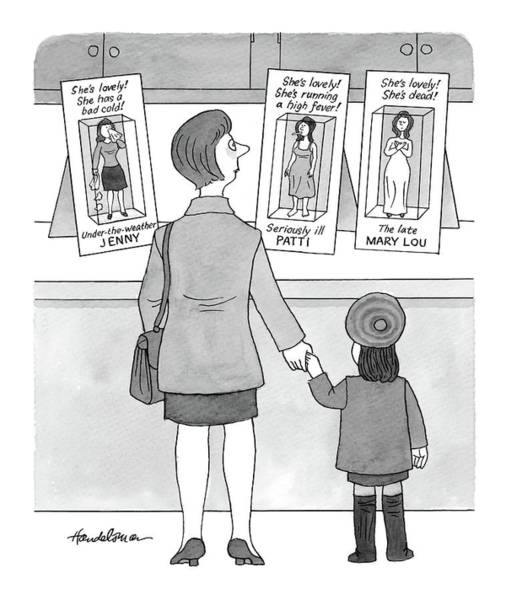 Weather Drawing - New Yorker November 15th, 1999 by J.B. Handelsman