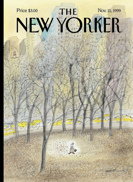 Park Painting - New Yorker November 15th, 1999 by Jean-Jacques Sempe