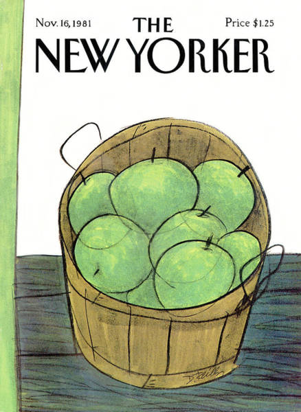 Apples Painting - New Yorker November 16th, 1981 by Donald Reilly