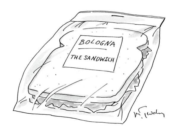 Sandwiches Drawing - New Yorker November 16th, 1987 by Mike Twohy