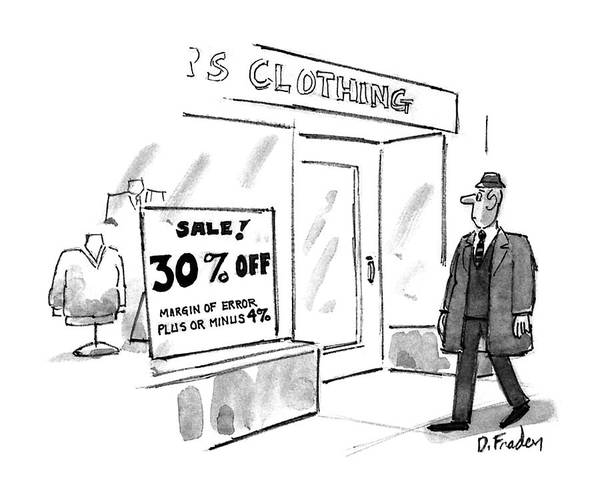 4 Drawing - New Yorker November 16th, 1992 by Dana Fradon