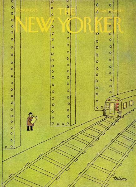 City Life Painting - New Yorker November 17th 1975 by Robert Tallon