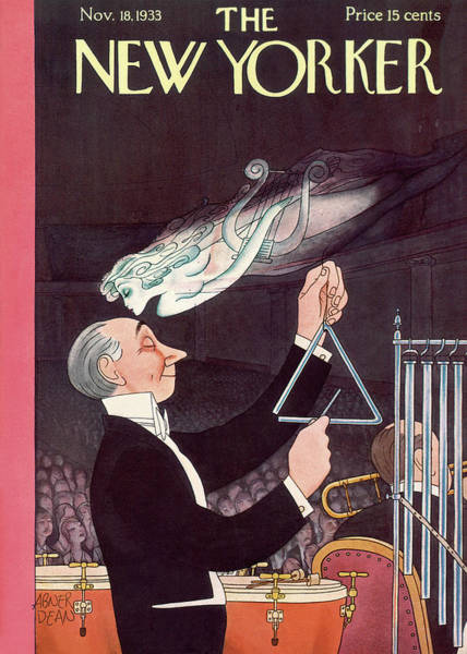 Kissing Painting - New Yorker November 18th, 1933 by Abner Dean