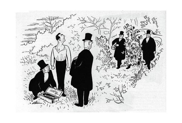 Sword Drawing - New Yorker November 18th, 1944 by  Alain