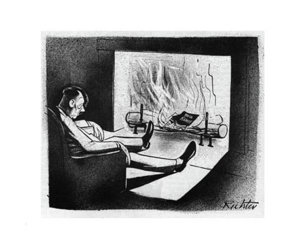 Hitler Drawing - New Yorker November 18th, 1944 by Mischa Richter
